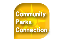 Community Parks Connection Logo - Summer Yellow